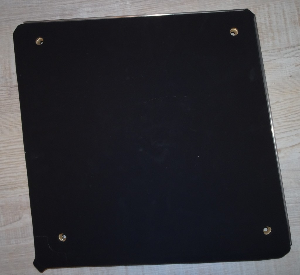 An X-33 metallic tile, a black, metal plate about 18 inches square. Photo credit: Edgar Zapata, zapatatalksnasa.com