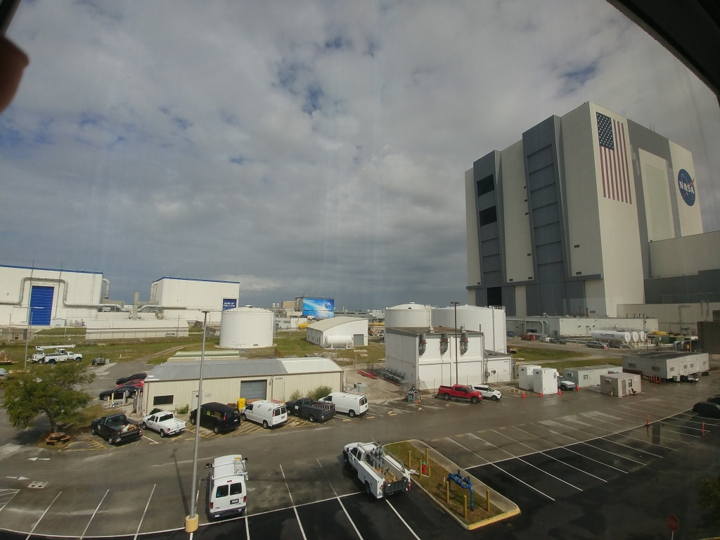 """Picture of the Kennedy Space Center Vehicle Assembly Building (""""VAB""""), taken by me in 2019."""