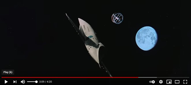 A picture of the air-breathing spaceplane from 2001: A Space Odyssey